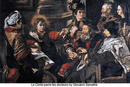 Le Christ parmi les Docteurs by Giovanni Serodine