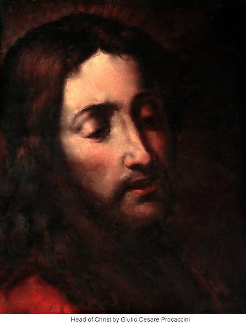Head of Christ by Giulio Cesare Procaccini