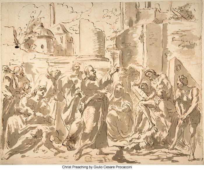 Christ Preaching by Giulio Cesare Procaccini
