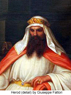 Herod (detail) by Giuseppe Fattori