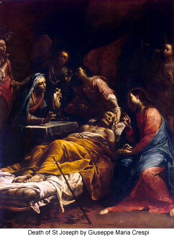 Death of St Joseph by Giuseppe Maria Crespi