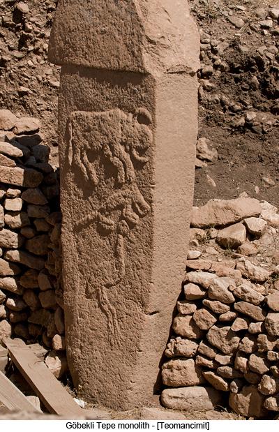 Göbekli Tepe monolith by Teomancimit