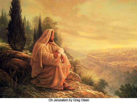 Oh Jerusalem by Greg Olsen