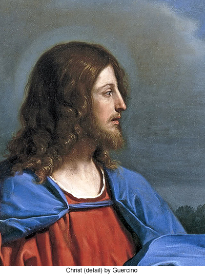 Christ (detail) by Guercino