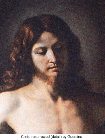 Christ Resurrected (detail) by Guercino