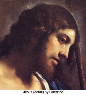 Jesus (detail) by Guercino