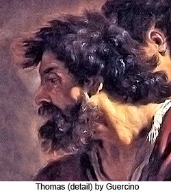 Thomas (detail) by Guercino