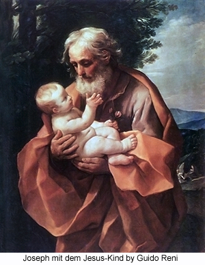 Joseph mit dem Jesus-Kind by Guido Reni
