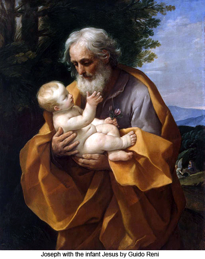 Joseph with the infant Jesus by Guido Reni