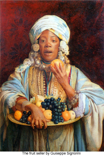 The fruit seller by Guiseppe Signorini
