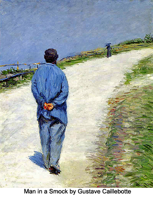 Man in A Smock by Gustave Caillebotte