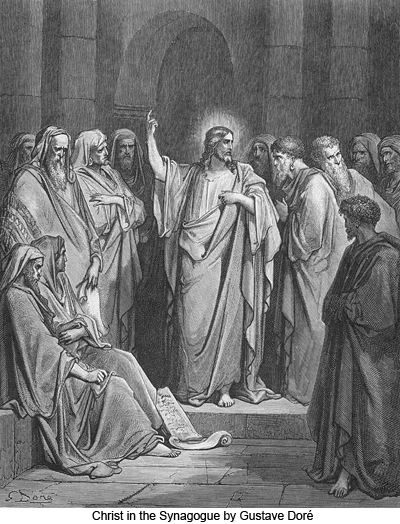 Christ in the Synagogue by Gustave Doré