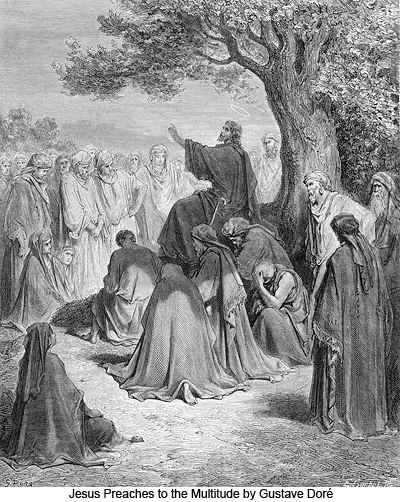 Jesus Preaches to the Multitude by Gustave Doré