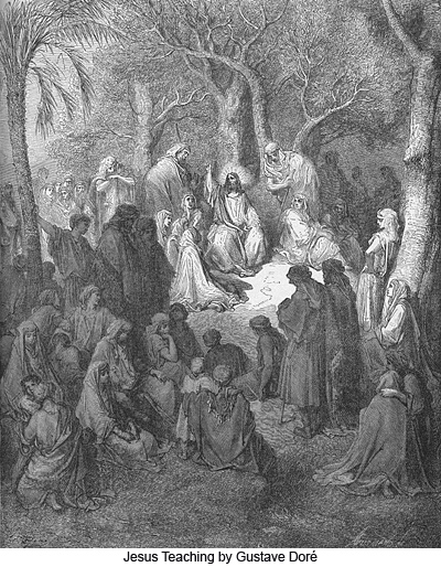 Jesus Teaching by Gustave Doré