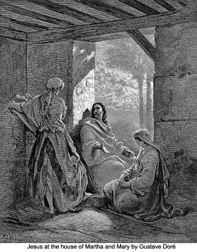Jesus at the House of Martha and Mary by Gustave Dore
