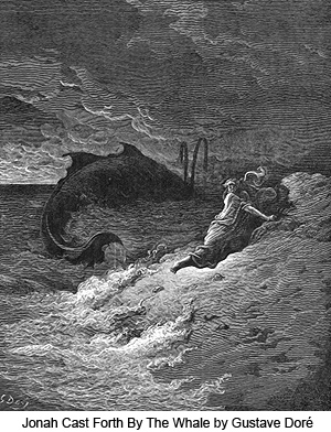 Jonah Cast Forth by the Whale by Gustave Dore