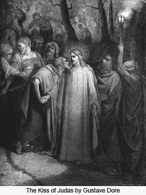 The Kiss of Judas by Gustave Dore