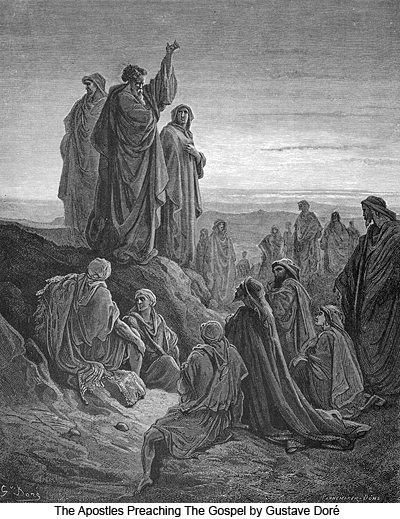 The Apostles Preaching The Gospel by Gustave Doré