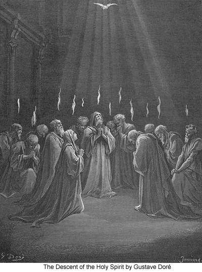 The Descent of the Holy Spirit by Gustave Doré