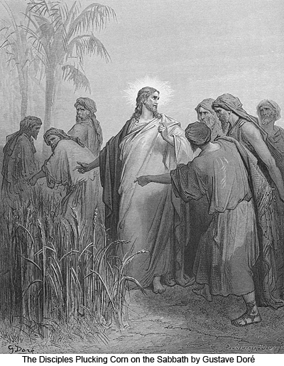 The Disciples Plucking Corn on the Sabbath by Gustave Doré