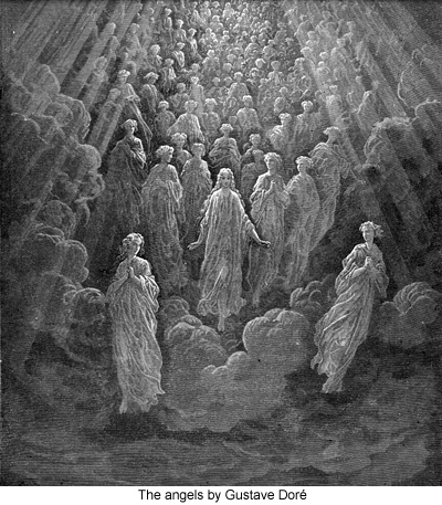 The angels by Gustave Doré