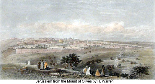 Jerusalem from the Mount of Olives by H. Warren