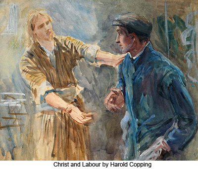 Christ and Labor by Harold Copping