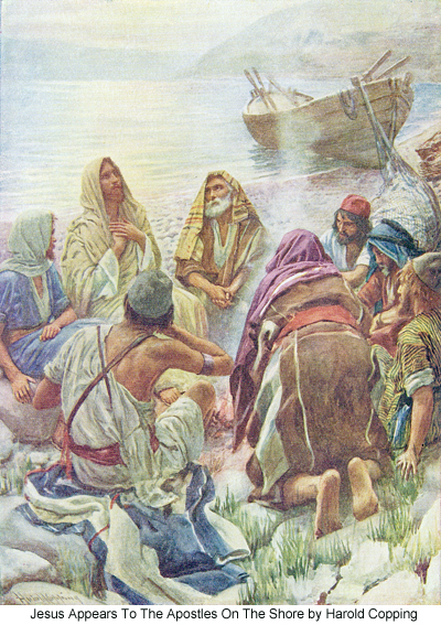 Jesus Appears to the Apostles on the Shore by Harold Copping