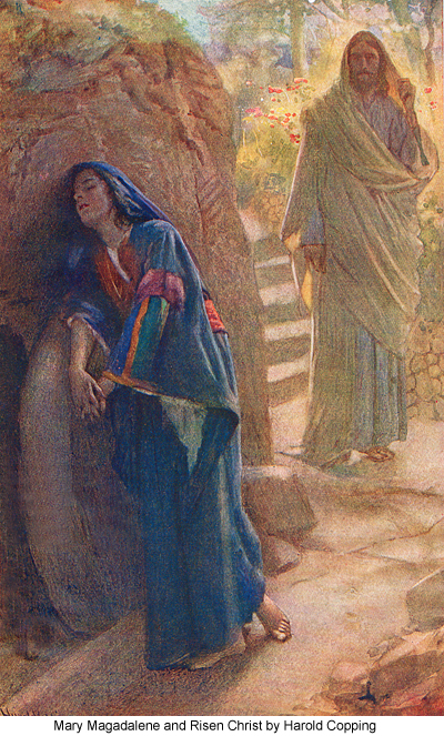 Mary Magdalene and Risen Christ by Harold Copping
