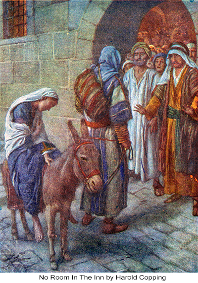 Mary Travels To Bethlehem With Joseph For The Census