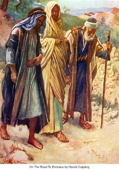 On The Road To Emmaus by Harold Copping