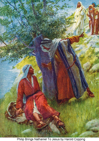 Philip Brings Nathaniel To Jesus by Harold Copping