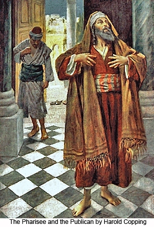 The Pharisee and the Publican by Harold Copping