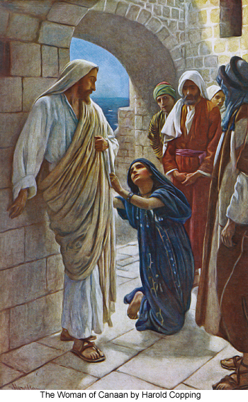 The Woman of Canaan by Harold Copping