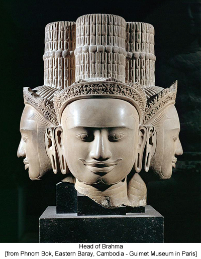 Head of Brahma [from Phnom Bok, Eastern Baray, Cambodia - Guimet Museum in Paris]