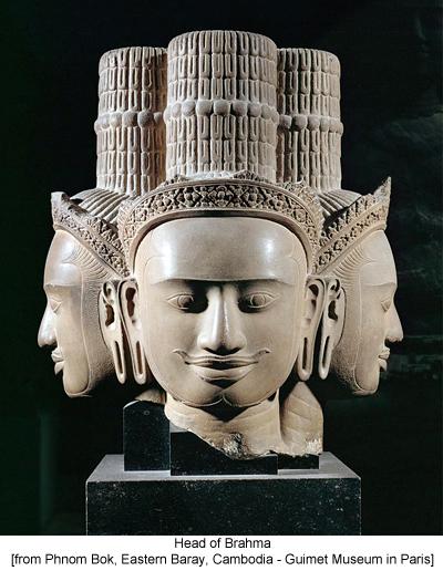 Head of Brahma [from Phnom Bok, Eastern Baray, Cambodia - Guimet Museum in Paris]