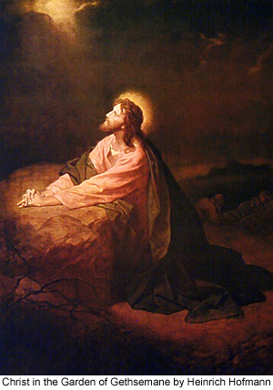 Christ in the Garden of Gethsemane by Heinrich Hoffman