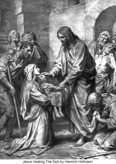 Jesus Healing The Sick by Heinrich Hofmann
