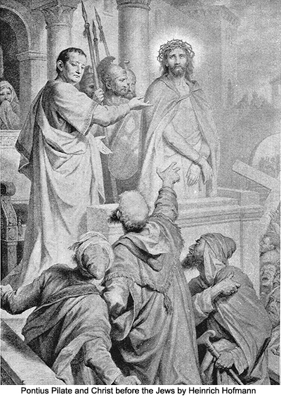 Pontius Pilate and Christ before the Jews by Heinrich Hofmann