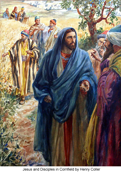 Jesus and Disciples in Cornfield by Henry Coller