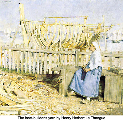 The boat-builder's yard by Henry Herbert La Thague