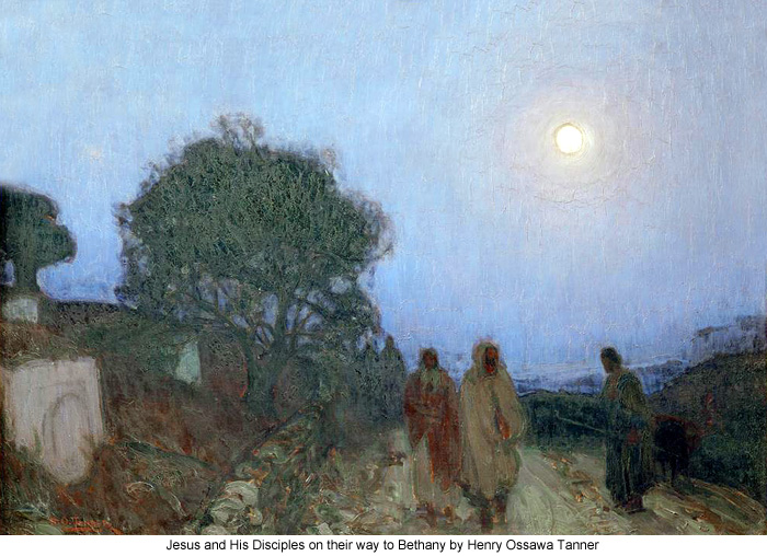 Jesus and His Disciples on their way to Bethany by Henry Ossawa Tanner