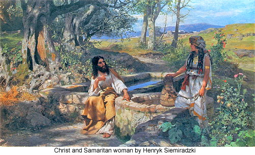 Christ and Samaritan woman by Henryk Siemiradzki