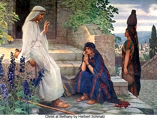 Christ at Bethany by Herbert Schmalz