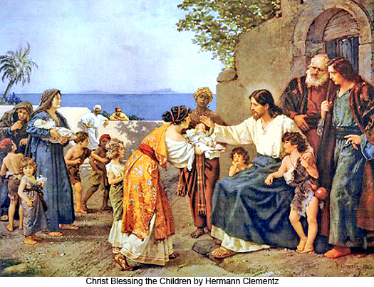 Christ Blessing the Children by Hermann Clementz