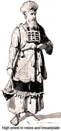 High priest in robes and breastplate
