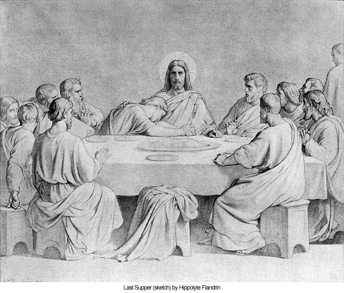 Last Supper (sketch) by Hippolyte Flandrin