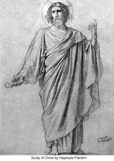 Study of Christ by Hippolyte Flandrin