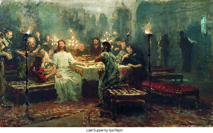Last Supper by Ilya Repin