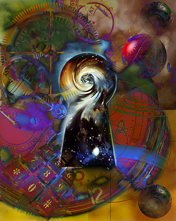 Swirling Keyhole Into the Next Dimension